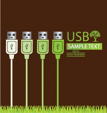 usb cable: Usb cable vector illustration