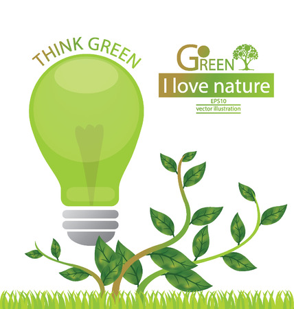Green concepts save energy, save world vector illustration Vector