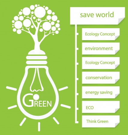 go to: Go green, Design Template, Diagram vector illustration