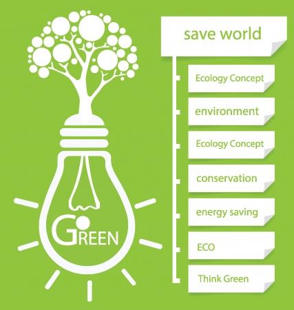 Ir verde, plantilla de diseño, ilustración vectorial Diagrama
