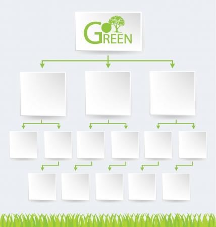 buisiness: Go green, Design Template, Diagram vector illustration
