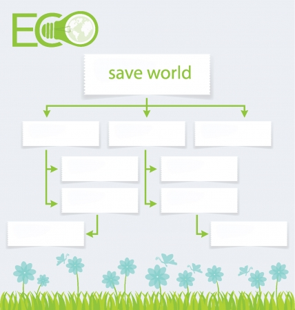 Go green, Design Template, Diagram vector illustration