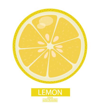lemon juice: Lemon fruits vector illustration Illustration