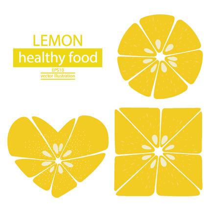 Lemons fruits vector illustration Vector