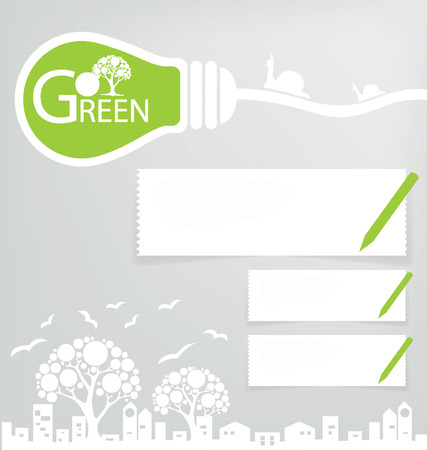 save tree: Design Template, Save world, Green concept vector illustration
