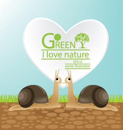 Save world, Green concept vector illustration Vector