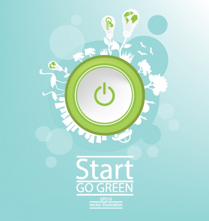 Start Go green, Save world vector illustration Vector