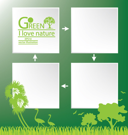 Go green, Design Template vector illustration Vector