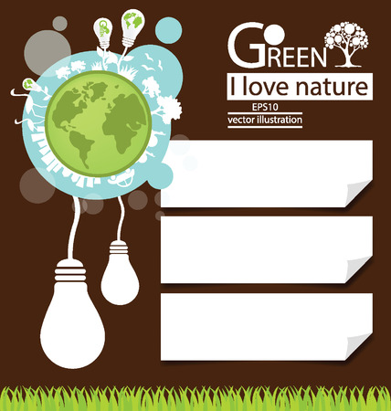 Save world, Design Template vector illustration Vector