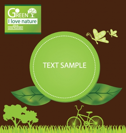 Go green, Save world vector illustration Vector