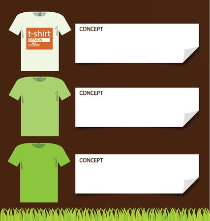 t shirt, Go green concept vector illustration Stock Vector - 24989012
