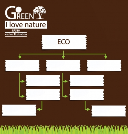 Design Template, Go green, Save world vector illustration Vector