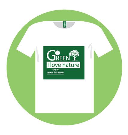 t shirt, Go green concept vector illustration Stock Vector - 24976606