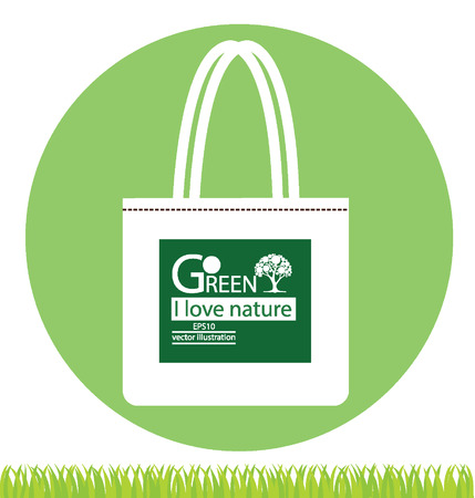 Bags, Go green concept vector illustration Stock Vector - 24976629