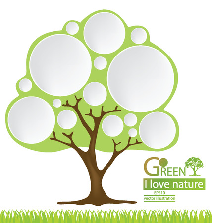 Tree design, Go green, Save world vector illustration Stock Vector - 24996995