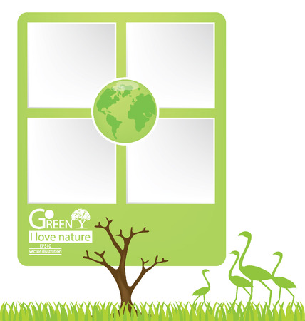 Tree design, Design Template, Go green, Save world vector illustration Vector