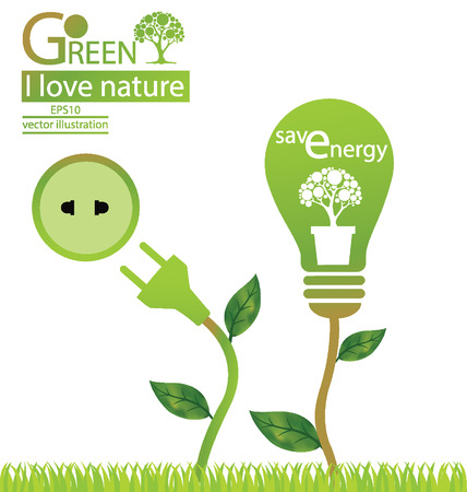 Green concepts, save world vector illustration