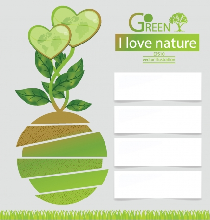 Design Template, Green concepts, save world vector illustration Vector