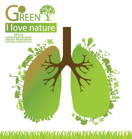 Go Green, Save ilustración vectorial mundo Ilustración de vector