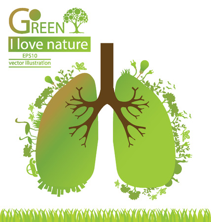 Go green, Save world vector illustration