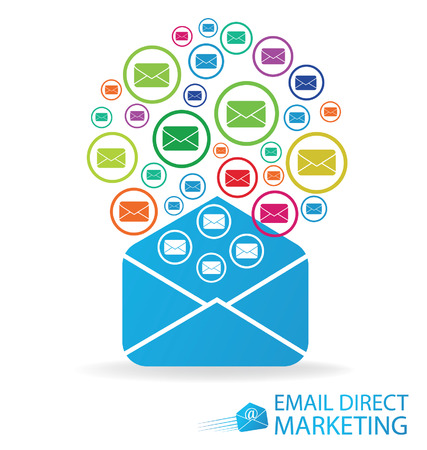 direct: email direct marketing, Communication concept vector Illustration