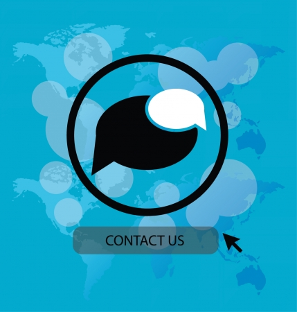 contact us vector Illustration Illustration