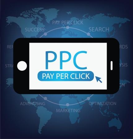 Pay per click concept vector Illustration Illustration