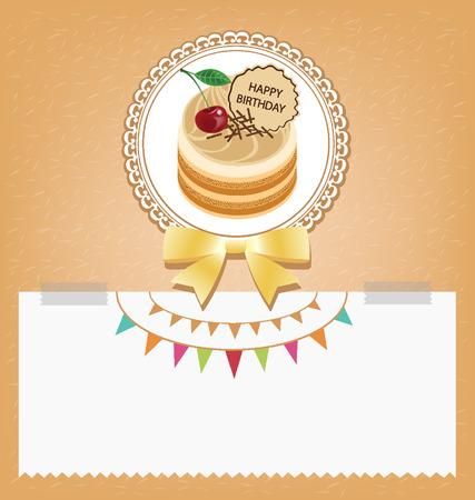 Card, Template design, cake vector illustration Illustration