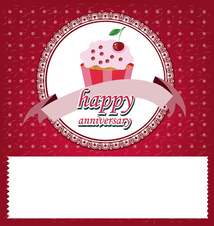 Card, Template design, cake vector illustration Vector