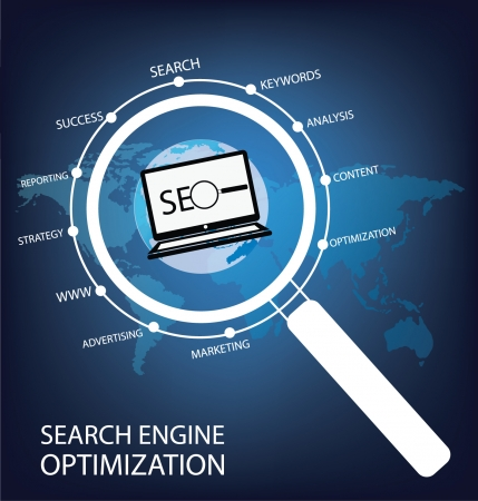 search engine optimization vector Illustration Vector