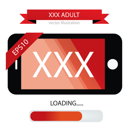 Mobile phone, XXX vector illustration Vector