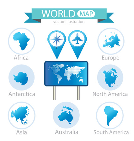 World Map vector Illustration Stock Vector - 24997153