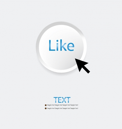 Like button vector illustration Vector