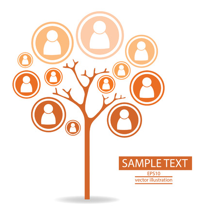 Tree design communication concept connection Illustration Vector