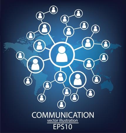 communication concept connection Illustration Vector