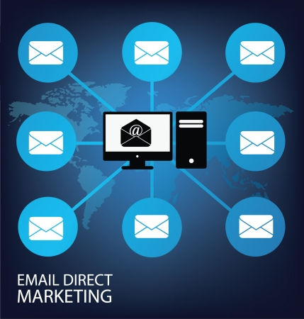 direct: email direct marketing vector Illustration Illustration