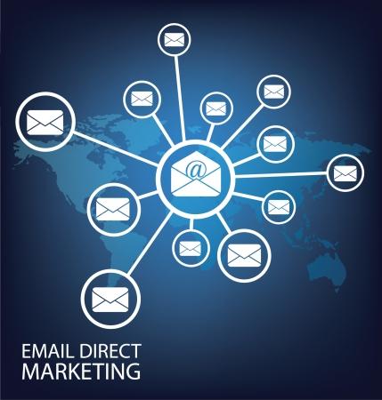 почта прямой маркетинг Связь концепции Иллюстрация
