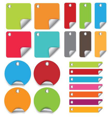 interval: colorful labels illustration Illustration