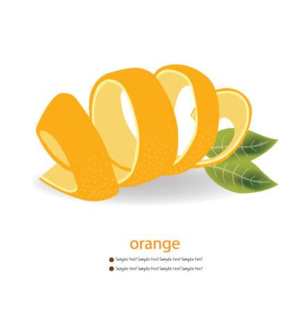 orange peel: Orange peel illustration Illustration