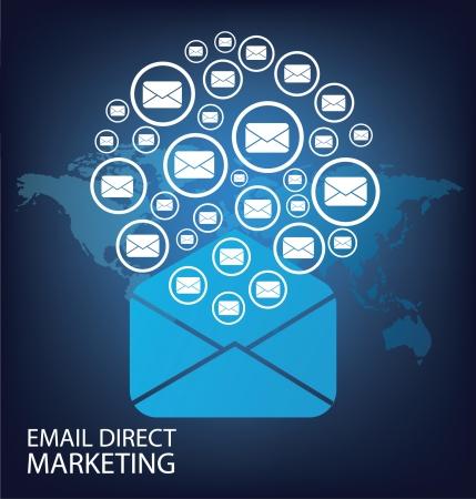 multilevel: email direct marketing concept Illustration