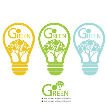 Лампа иллюстрация Зеленая энергия