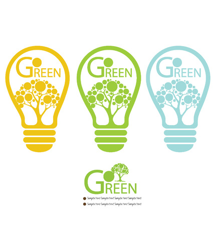 Green energy lamp illustration Illustration
