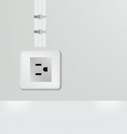 Plug on Empty wall illustration Vector