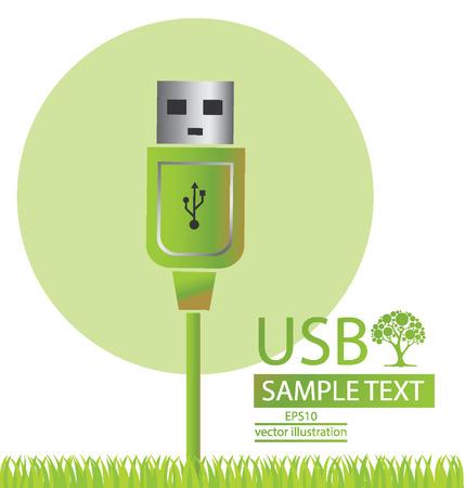 usb cable: Usb cable illustration Illustration