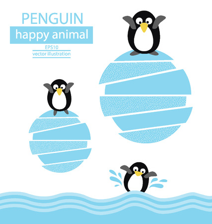 Penguin vector illustration Vector