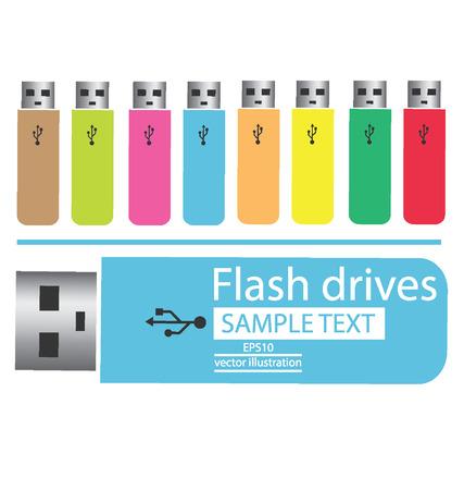 mass storage: Colored USB flash drives
