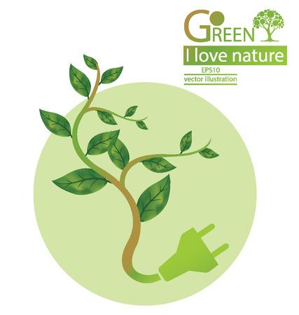 Go green, Save world vector illustration Stock Vector - 25297162