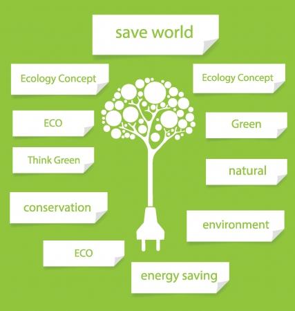 Go green Design Template Diagram illustration Vector