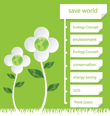 Go green Design Template Diagram illustration Vector