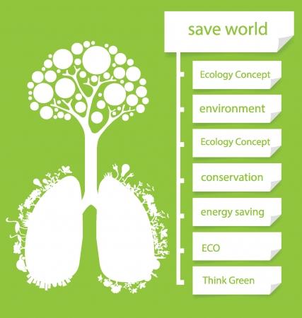 Go Green Дизайн шаблона схема, иллюстрирующая Иллюстрация